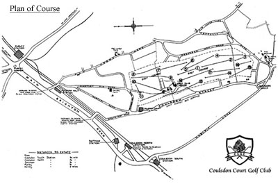Coulsdon Golf Club course plan